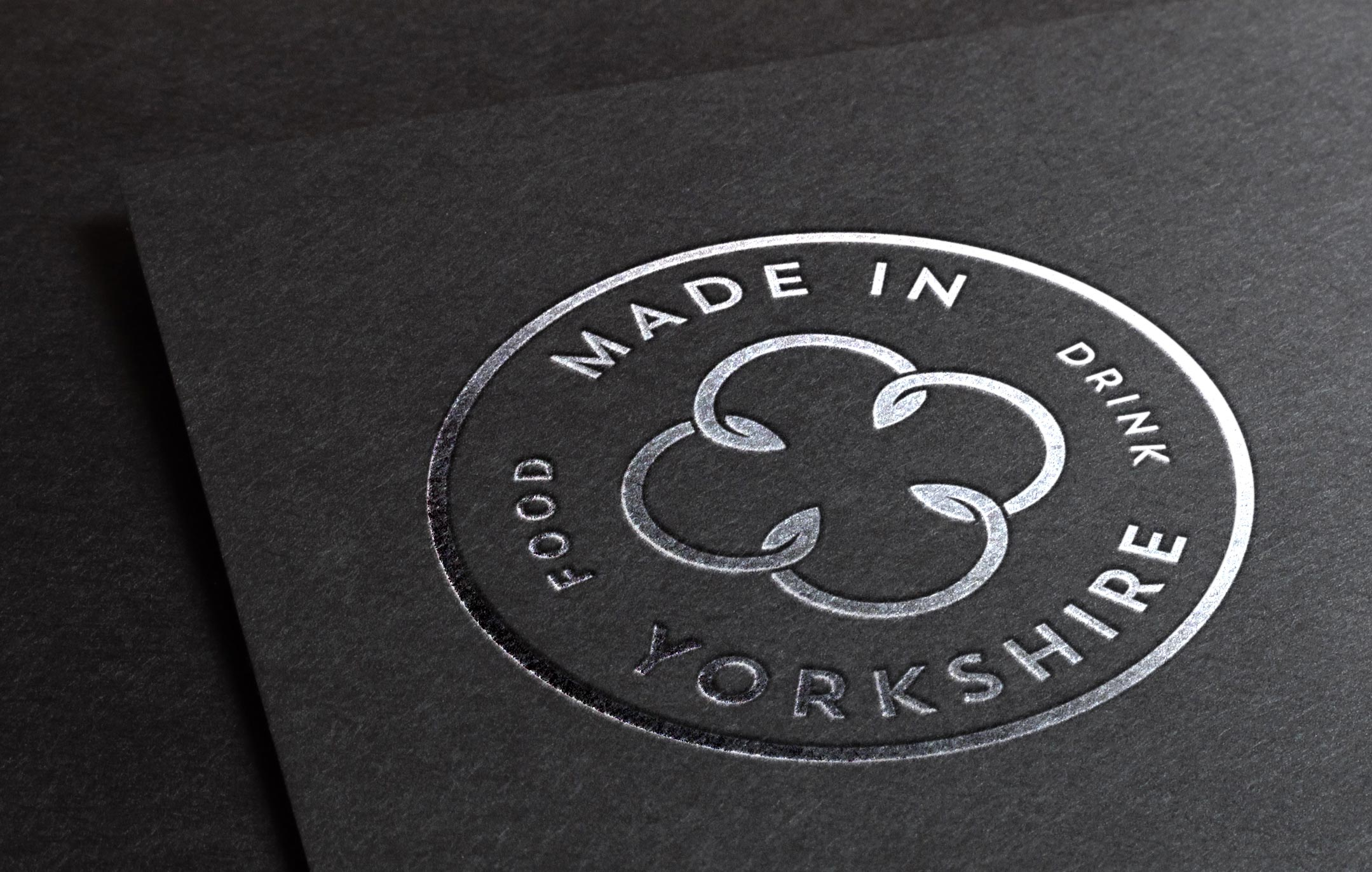 Made In Yorkshire embossed logo on card
